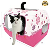*FLASH SALE* Cardboard Cat Houses For Indoor & Outdoor Cats -The Kitty Camper Is The Perfect Play House, Cave, Igloo, Condo or Pet Bed - Just Add Toys a Blanket & Feel Good About Leaving Your Kitten & Pets at Home- FREE EBook - Money Guarantee -PINK