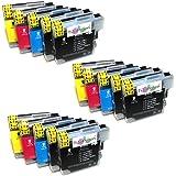 15x Brother DCP 195 C kompatible Premium XL Druckerpatronen. Sehr gute Laufleistung und Preiswert!