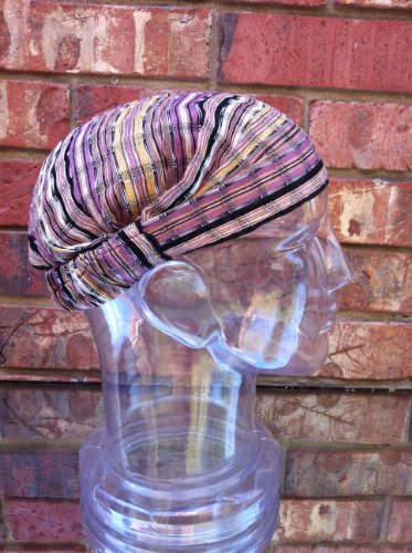 Inspirit Arts Medium Earthtone Headband Expandable Handwoven Open Net Weave Lightweight Bandana Headwrap Elastic 100% Cotton Hair Scarf front-334771