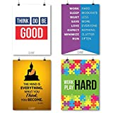 A3 Sized Poster Collection To Inspire & Motivate Students Set Of 4 By QuoteSutra