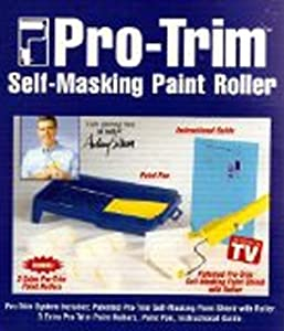 pro trim self masking paint roller with tray and 4 rollers. Black Bedroom Furniture Sets. Home Design Ideas