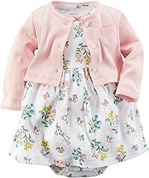 Carter\'s Baby Girls\' 2 Piece Floral Dress Set (Baby) - Pink - 3M