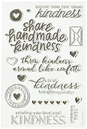 """Hero Arts Clear Stamps 4 """"X 6"""" atti di con scritta """"Kindness"""""""