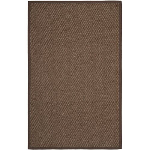 Safavieh Natural Fiber Collection NF525D Chocolate Sisal Area Rug, 4 feet by 6 feet (4' x 6')