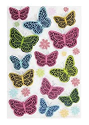 Martha Stewart Crafts Modern Damask Butterflies Stickers