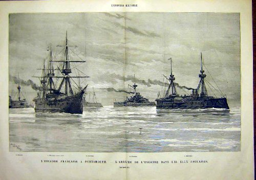 Portsmouth French Fleet Marceau Furieux Ships 1891