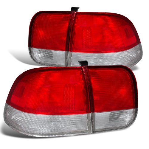 Spec-D Tuning LT-CV964RPW-DP Red/Clear Tail Light