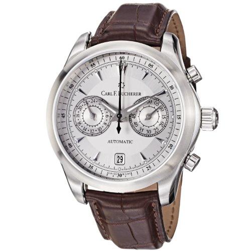 carl-f-bucherer-mens-0010910081301-manero-silver-chronograph-dial-brown-strap-watch