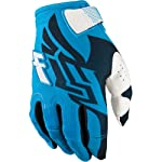 Fly Racing Kinetic Youth Boys Motocross/Off-Road/Dirt Bike Motorcycle Gloves - Blue/White / Size 5