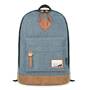 Hotstyle Classical Vintage College School Laptop Backpack Bag Pack Super Cute for School (blue)