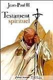 echange, troc Jean-Paul II - Testament spirituel