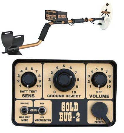 """Fisher Gold Bug-2 Metal Detector with 10 1/2"""" Search Coil"""