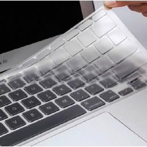 Mac Book Pro Air マック ブック プロ エアー 英語 US キーボード 保護 カバー ケース 透明 クリア (Air 11 インチ クロス 付き)