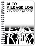 "BookFactory® Auto Mileage Log Book / Automobile Expense Record Notebook - 124 Pages - 5"" X 7"" Wire-O (LOG-126-57CW-A(MILEAGE))"