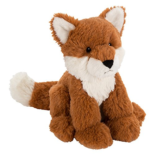 john-lewis-buster-the-boxer-olivia-the-fox-sitting-plush-soft-toy-brown-h18cm