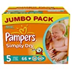 Pampers Simply Dry Couches Junior 11-...
