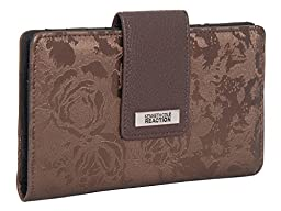 194534-877 Kenneth Cole Reaction Utility Clutch Marbled Style W/ Mirror (METALLIC BLOSSOM  BRONZE)