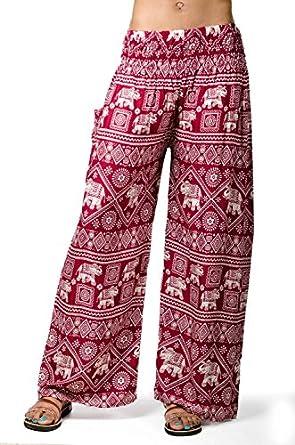 Fantastic  Women39s Elephant Print WideLeg Pants Navy At Amazon Womens
