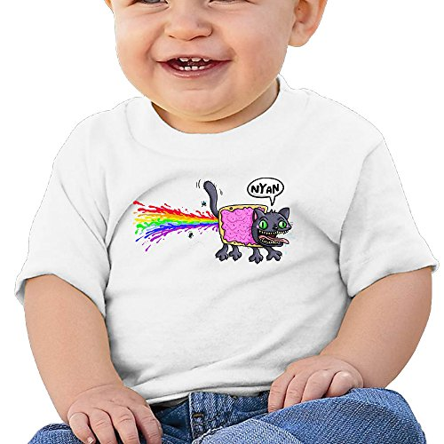 [Jirushi Infants &Toddlers Baby's Naya Cat White T Shirts For 6-24 Months] (Infant Racing Halloween Costume)