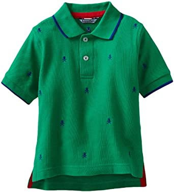 Kitestrings Boys 2-7 Embroidered Pique Polo Shirt, Green, 4T
