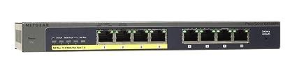 Netgear GS108PE Switch Configurable POE 8 Ports Gigabit, Prosafe Plus