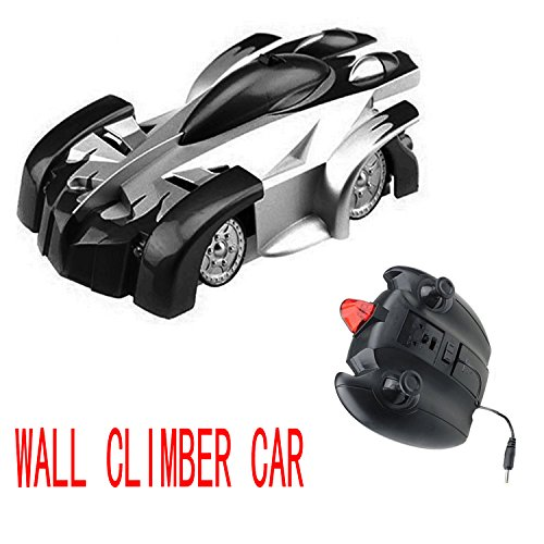 Angel Kiss Spiderman Wall Climber Climbing Car RC Stunt Car Toy Radio Remote Control Car -Radio Control Mini Zero Gravity Kids Electric Toy -Black