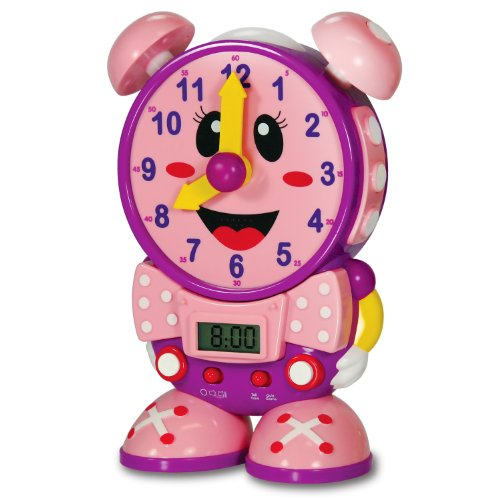 The Learning Journey Telly The Teaching Time Clock, Pink