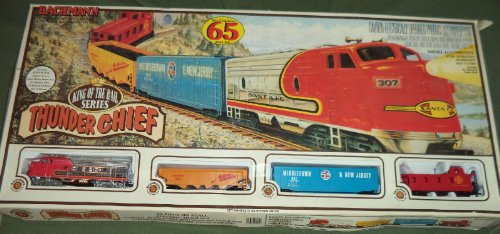 Bachmann Thunder Chief 65 Piece Ho Scale Electric Train Set Vintage Model #00501 King Of The Rail Series