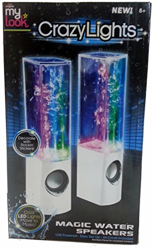 My Look Crazy Lights Magic Water Speakers (White) жилеты look