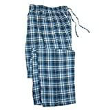 Hanes Men's Flannel Pants in a Bag (Light Blue Small)