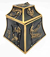Egyptian Theme Scarab Eye of Horus Anubis Gods Jewelry Trinket Box Sculpture