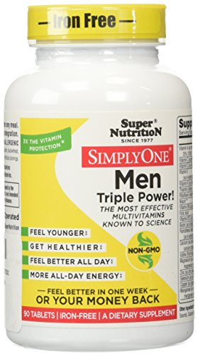 SuperNutrition Simply One Men's Iron-Free Multivitamin Tablet, 90 Count (Yeast Free Multivitamin compare prices)