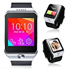 Indigi® 2-in-1 Interconvertible GSM + Bluetooth Smart Watch For All iPhone 6, iPhone 6 plus, iPhone 5s, iPhone 5, Galaxy S5, Galaxy S4, Note 4 etc. (Silver)