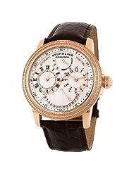 Stuhrling Original Men's 283.3345K34 Saturnalia DT Automatic Dual Time Rosetone Case Watch