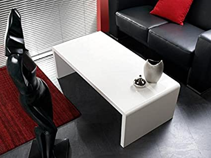 Mesa de centro Haku, pintura blanca brillante, 86390