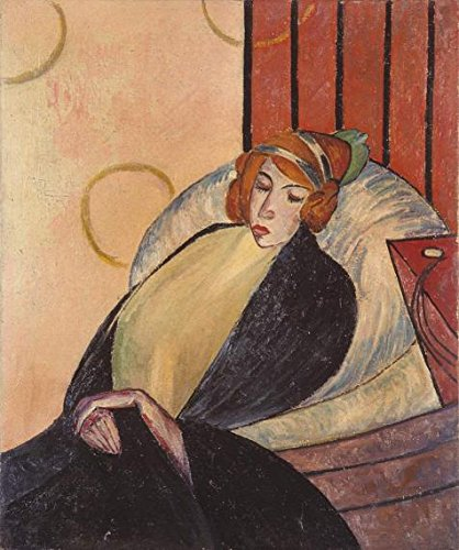 Oil painting 'unknown,Woman On a Chair,about 20th century' printing on high quality polyster Canvas , 20x24 inch / 51x61 cm ,the best Gym gallery art and Home artwork and Gifts is this High quality Art Decorative Prints on Canvas