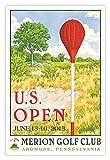 Signed 2013 U.S. Open Merion Mini-Poster by Lee Wybranski