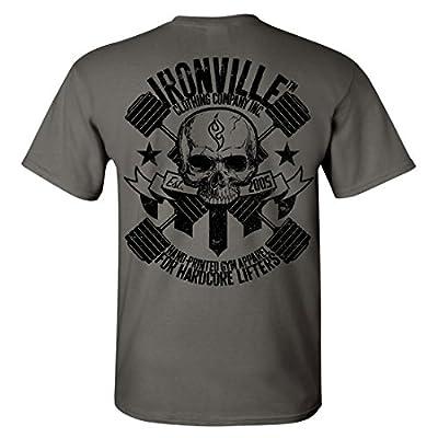 Ironville Heavy Iron Dumbbell Skull Bodybuilding T-Shirt