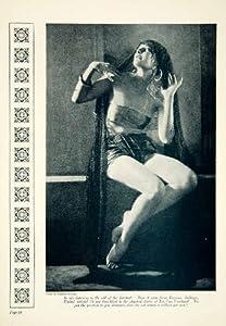 1923 Print Lin Van Voorhees Portrait Silent Film Actress Costume Nickolas Muray - Original Halftone Print