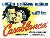 VINTAGE MOVIE / FILM PRINT / POSTER SUPERB QUALITY CASABLANCA HUMPHREY BOGGARDE