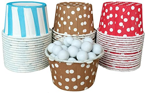 Outside the Box Papers Sock Monkey Themed Candy/Nut Cups -48 Pack Red, Brown, Light Blue