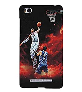 XIAOMI MI4I BASKETBALL Designer Back Cover Case By PRINTSWAG
