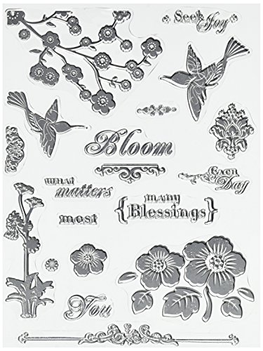 Hampton Art Warehouse Blooming Memories Rubber Stamp