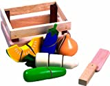Santoys - Wooden Toys - Food & Shop Role Play - Cut-through Vegetables