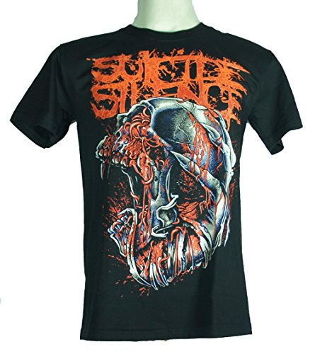 Suicide Silence (SS Infested Skull) Large Size L Nuovo. Maglietta 1194