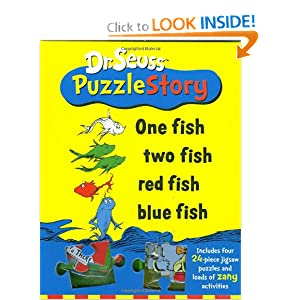 Seuss  Fish  Fish on Dr  Seuss Puzzle Story  One Fish Two Fish Red Fish Blue Fish  Dr