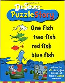 Dr seuss puzzle story one fish two fish red for Blue fish book