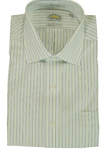 Men's Eagle Slim Fit Non Iron Striped Dress Shirt