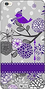 The Racoon Grip Purple Sparrow Song hard plastic printed back case/cover for Xiaomi Mi Max
