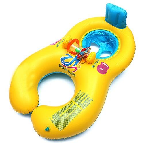 Safe Inflatable Mother Baby Swim Float Raft Kid